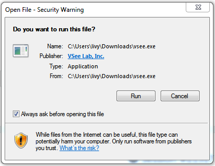 Firefox Open File - Security Warning